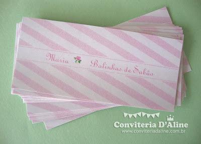 rótulos personalizados jardim rosa