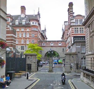 Former New Scotland Yard (left) & former Cannon Row Police Station (right) (from Google Streetview)