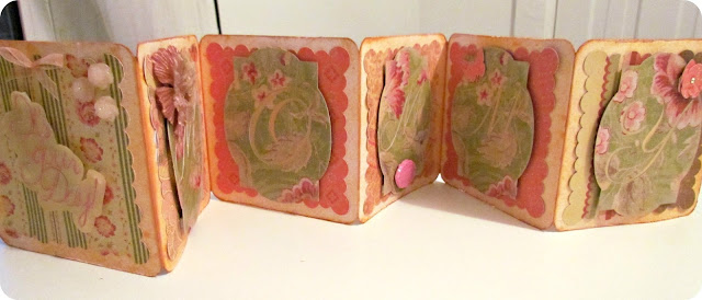 accordion Card, Mother's Day Card, cardmaking, easy cards, peach glimmer mist, Silhouette project