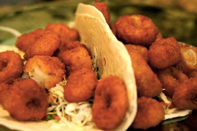 Christmas Eve, Holden Beach, Shrimp Ceviche,Calamari Taco's,Oatmeal Pie.