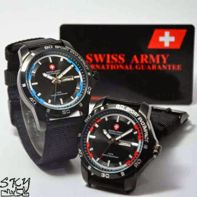 Swiss Army SA 2200 FB Original merah biru