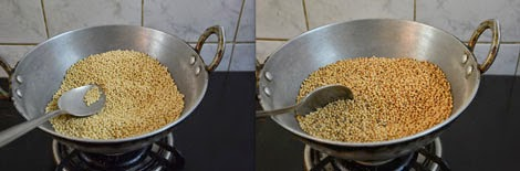 roasting ulundu for ulundu urundai