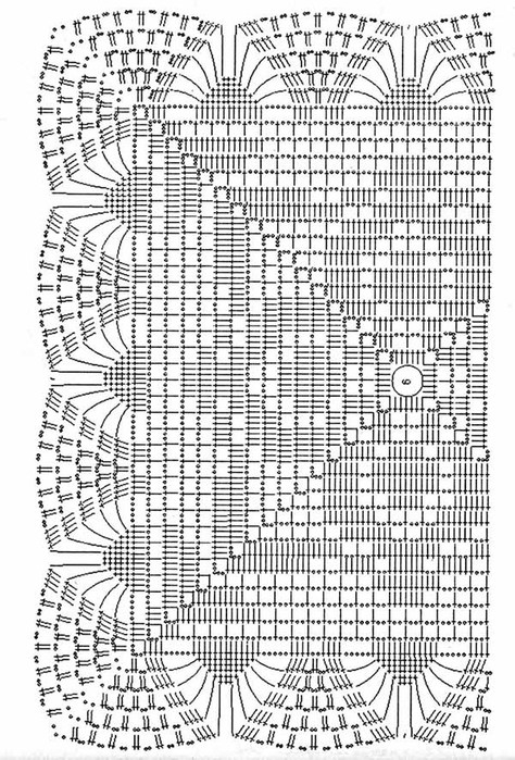 Вязание квадратных салфеток крючком схемы бесплатно