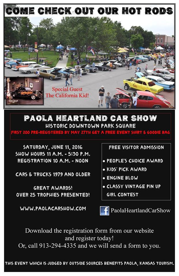 2016 Paola Heartland Car Show