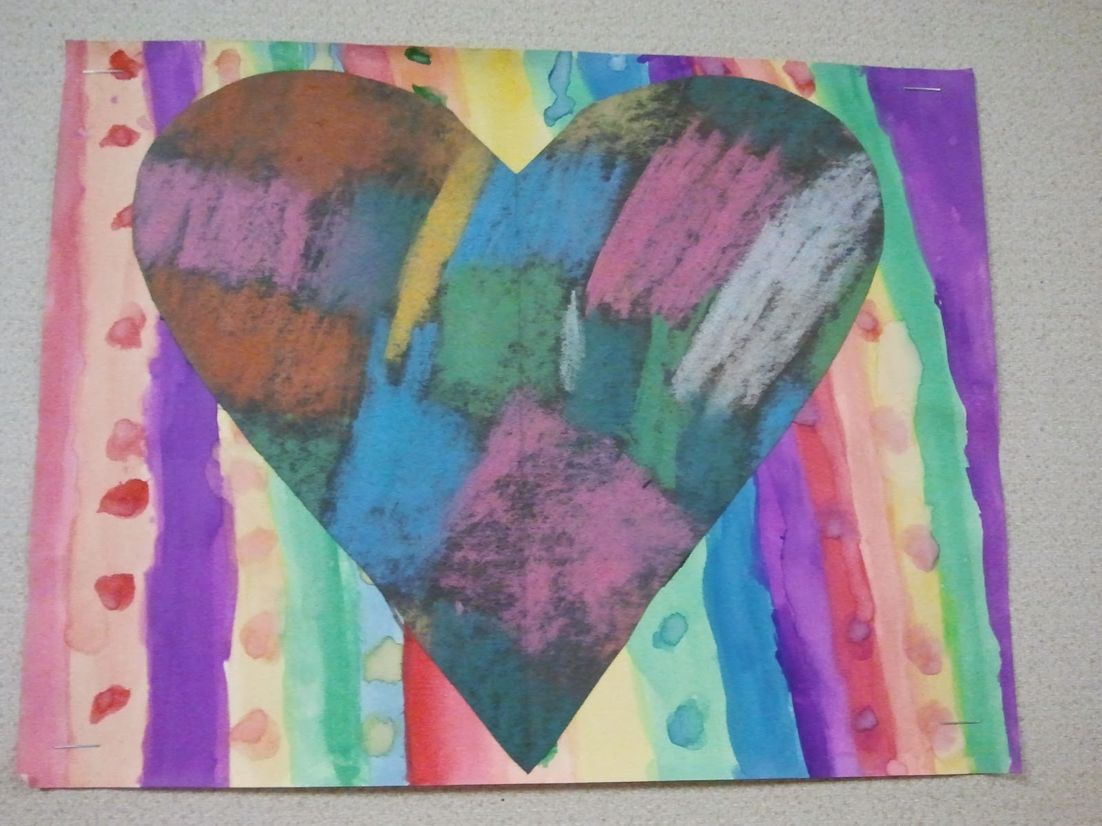 Parent Art Docents Jim Dine Inspired Hearts