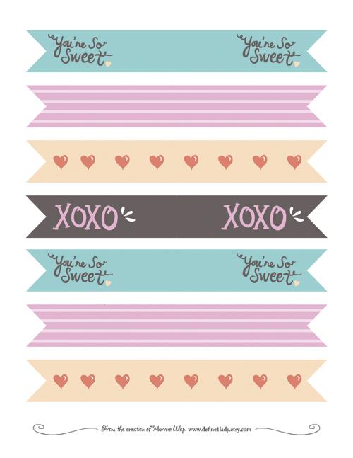 Free Valentine\'s Day DIY Printables - define1lady