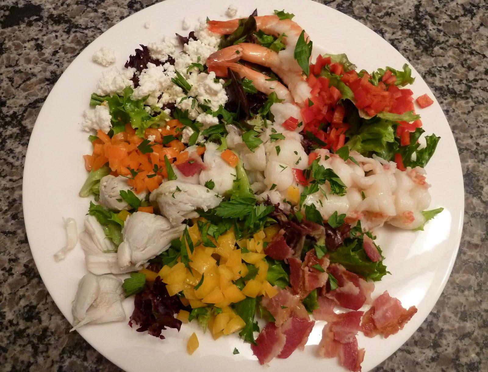 Seafood Cobb Salad - Cherry on my Sundae