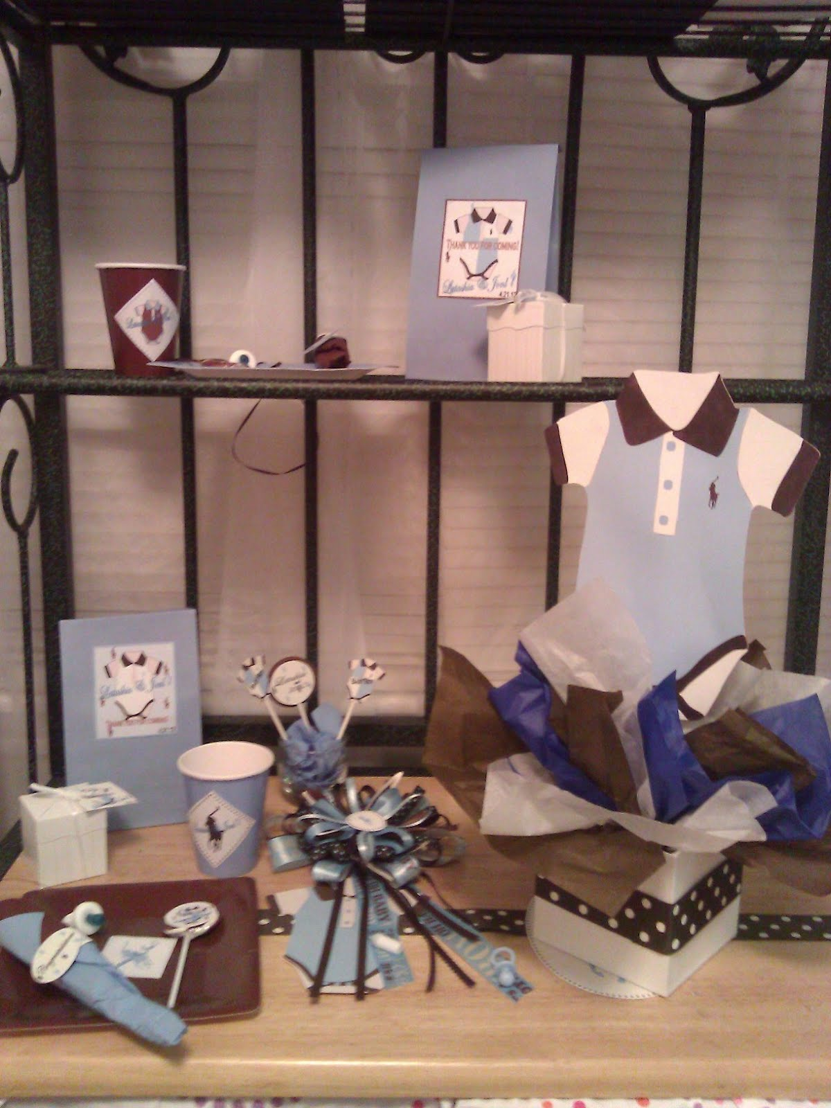 solutions event design by kelly polo brown and blue baby shower