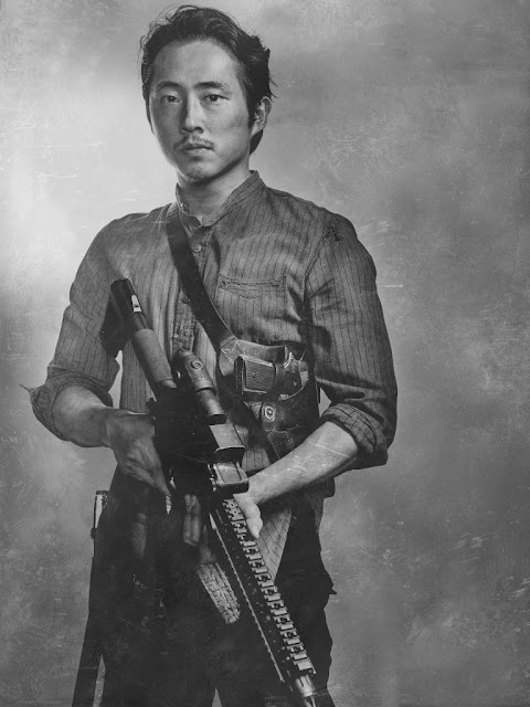 Steven Yeun como Glenn Rhee – The Walking Dead _ sexta temporada, Silver Portraits – Photo Credit: Frank Ockenfels 3/AMC