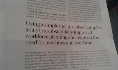 Using a ssimple tool to deliver complex analytics substantially improved workforce planning and reduced the need for hires and overtime