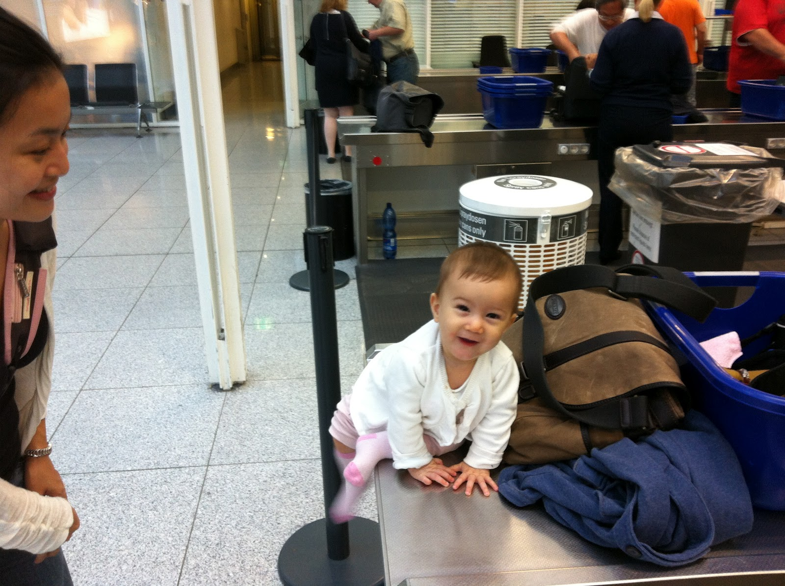 Hana's world: Germany trip, The journey, I'm 7 months old