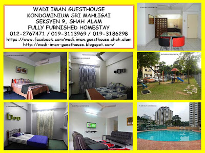 Homestay Shah Alam, UiTM, Seksyen 9, Seksyen 7, Seksyen 13, Seksyen 14, Bandaraya Shah Alam, pusat bandar, pelancongan, penginapan, homestay, guest house, rest house