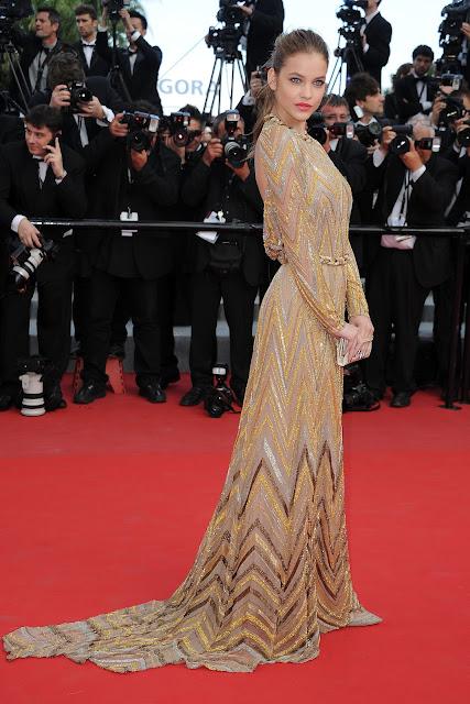 Barbara Palvin Cannes hair ponytail