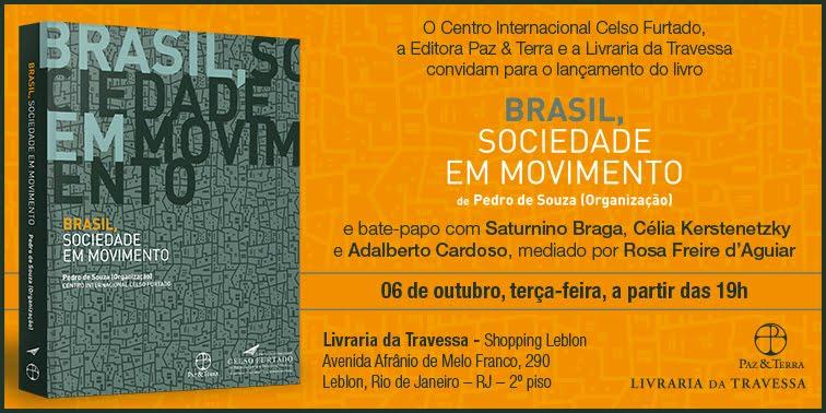 Brasil, sociedade em movimento, novo livro do Centro Celso Furtado