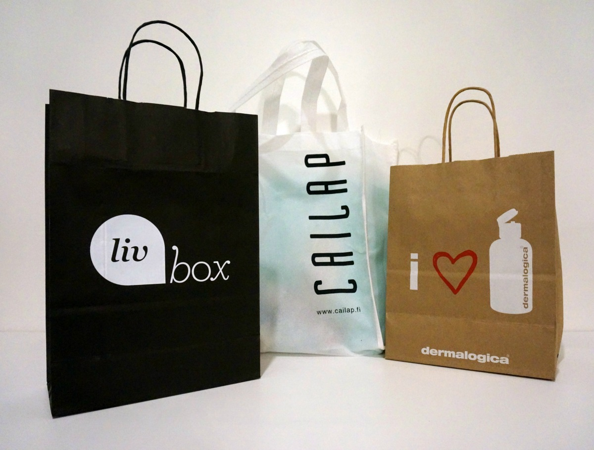 a picture of the bags I bought from the I love me event