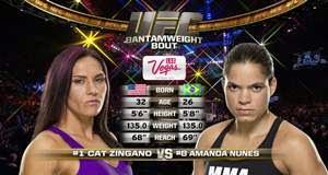 Vídeo da luta - Amanda Nunes x Cat Zingano