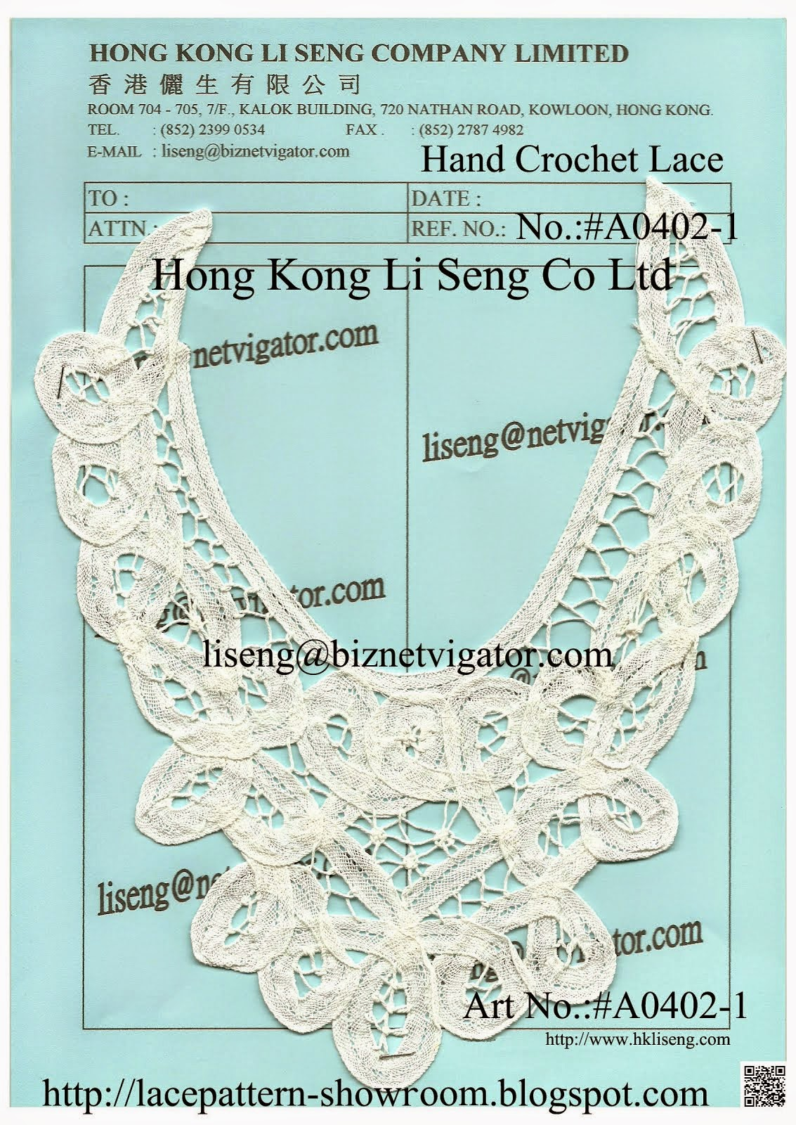 Chinese Handmade Crochet Appliques Wholesale and manufacturers - Hong Kong Li Seng Co Ltd