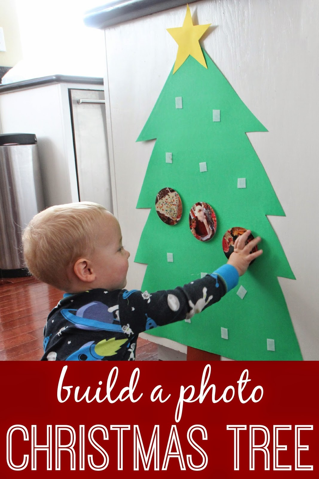 This photo Christmas tree activity is a