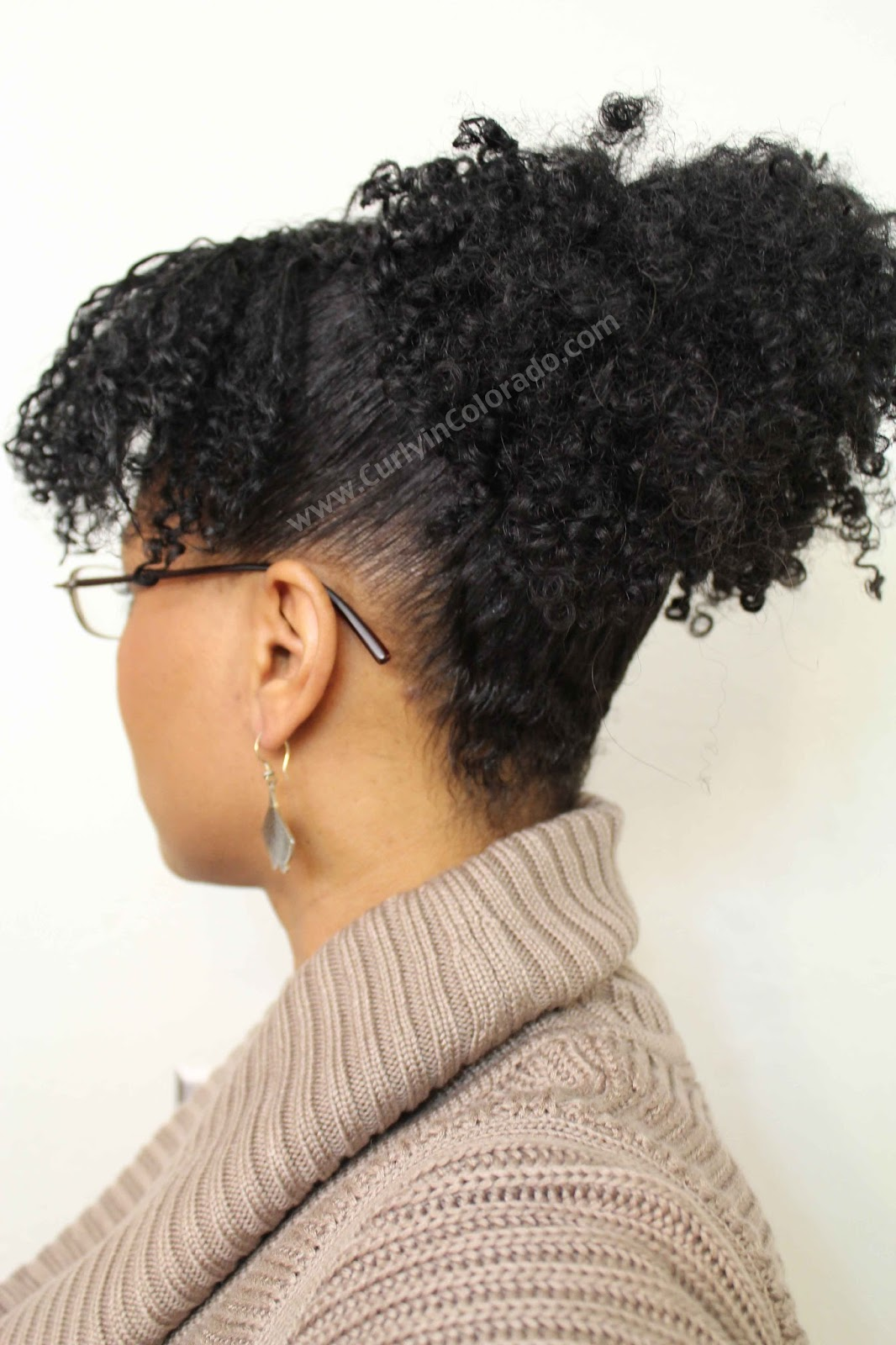 www.curlyincolorado.com Protective Style Challenge week 3 The Puff