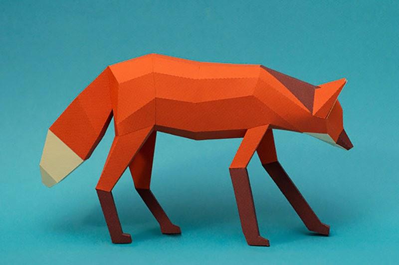 esculturas de papel de Guardabosques