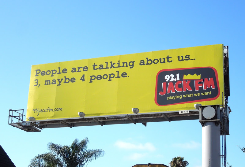 Jack FM People are talking about us billboard