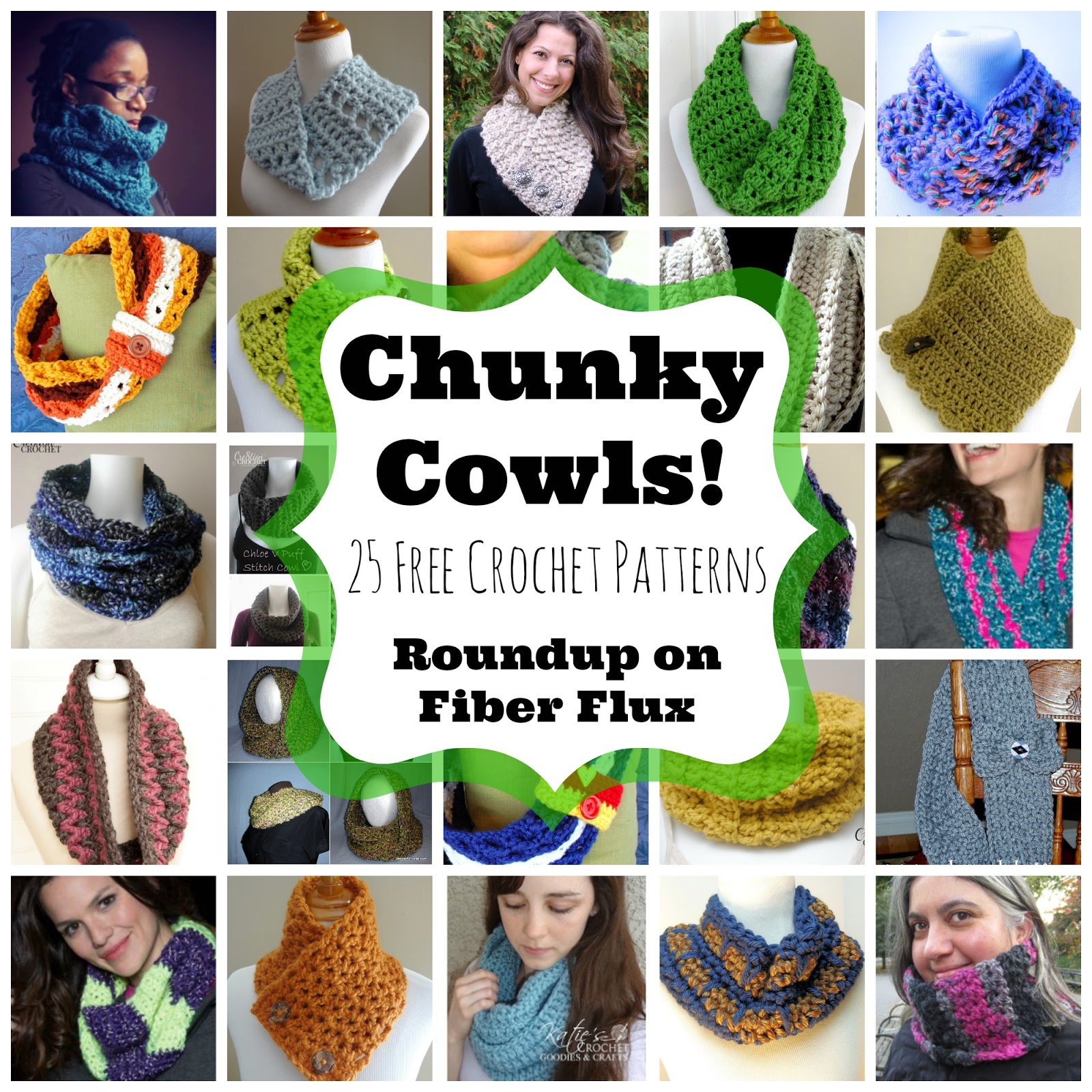 Fiber flux chunky cowls 25 free crochet patterns 25 free crochet patterns bankloansurffo Gallery