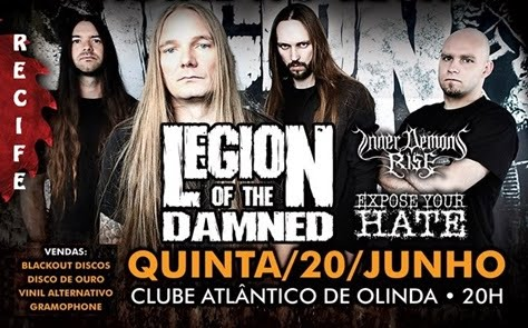20-06-2013 - LEGION OF THE DAMNED - Recife - PE