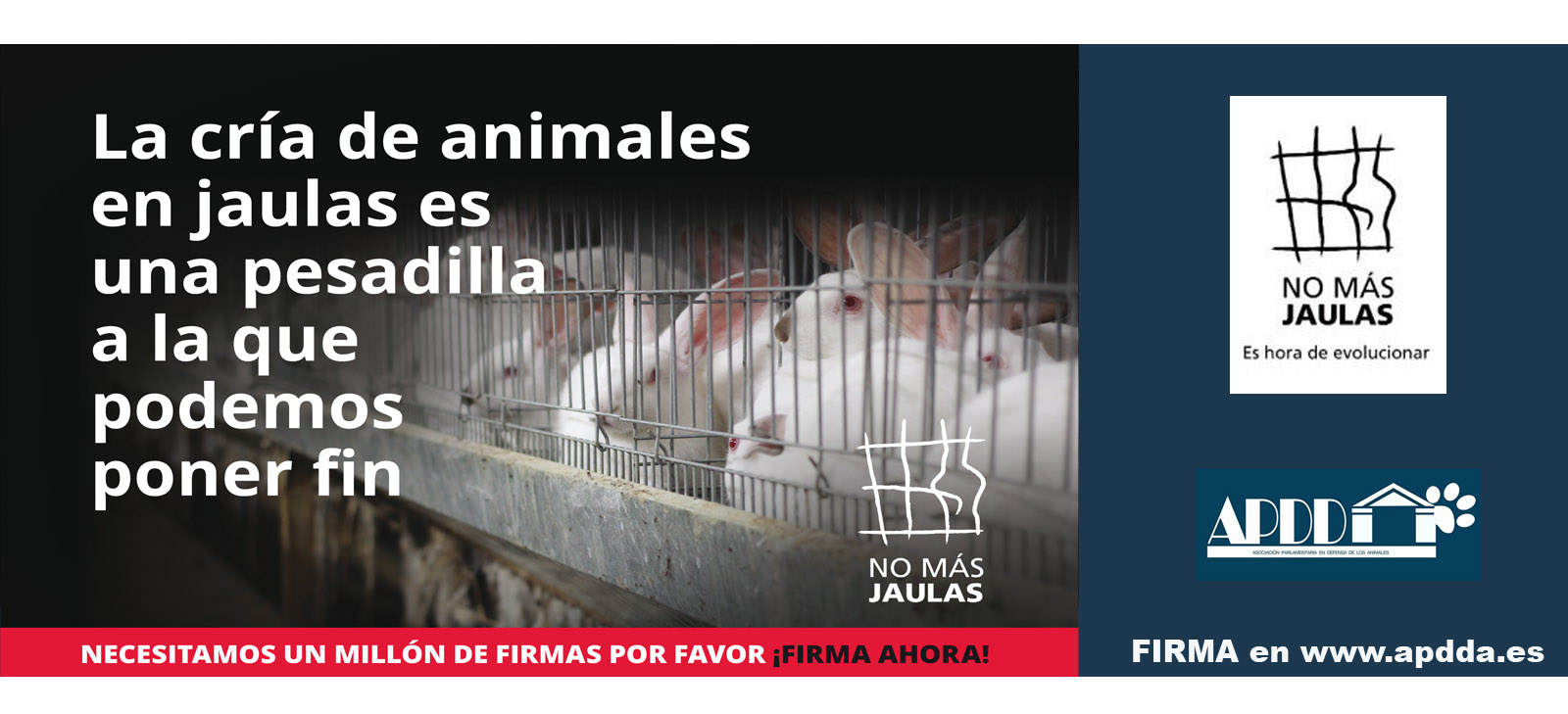 FIRMA: 'No Más Jaulas'
