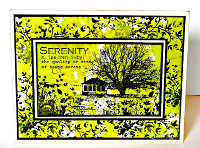 Mixed Media Card - stamps Artistic Outpost Serenity