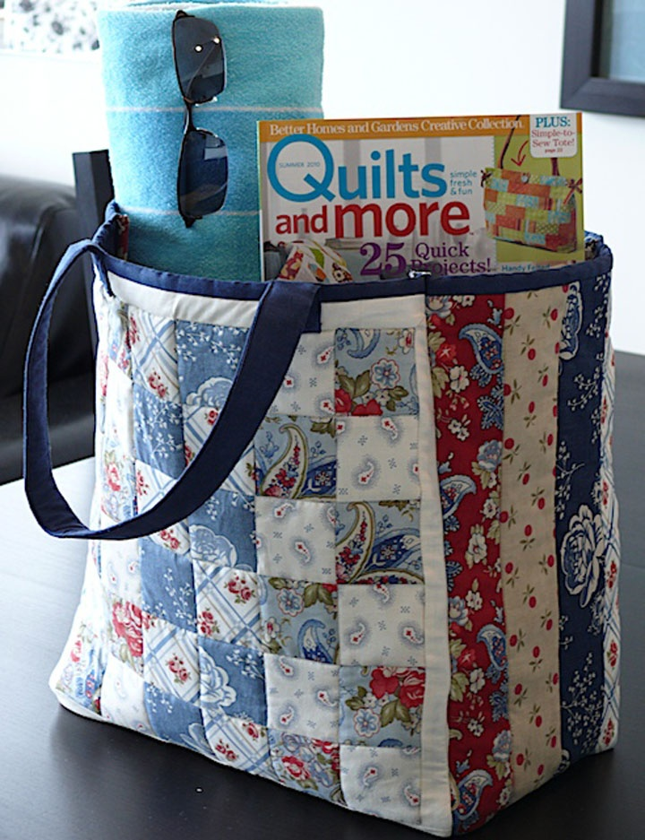 Simple Six-Pocket Bag, 8 x 10 x 4, tutorial at Better Homes and ...