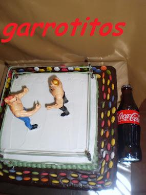 tarta de ring de boxeo.