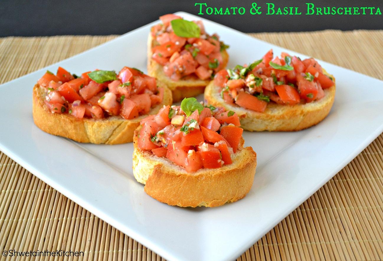 Shweta in the Kitchen: Tomato & Basil Bruschetta ...
