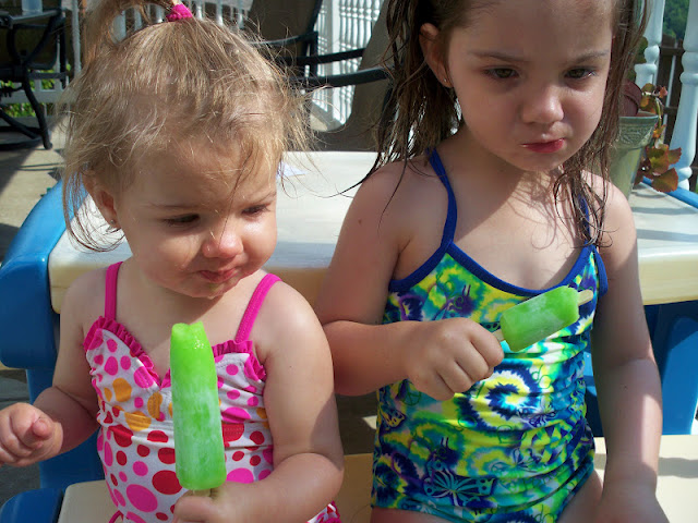 Keeping cool with lime popsicles
