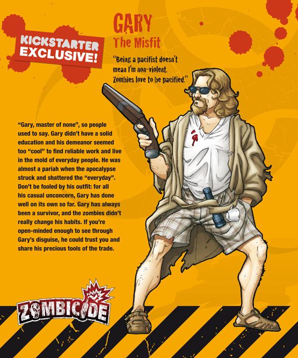 Zombicide personajes GARY