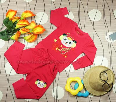 Bộ Gấu Nghe Nhạc dành cho bé trai màu Dâu - Babystyle.com.vn