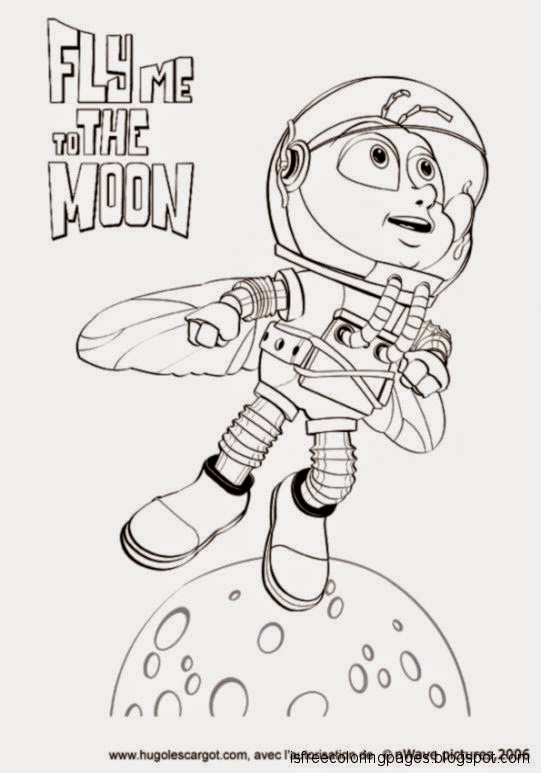 Fly Me To The Moon Coloring Pages Free Coloring Pages
