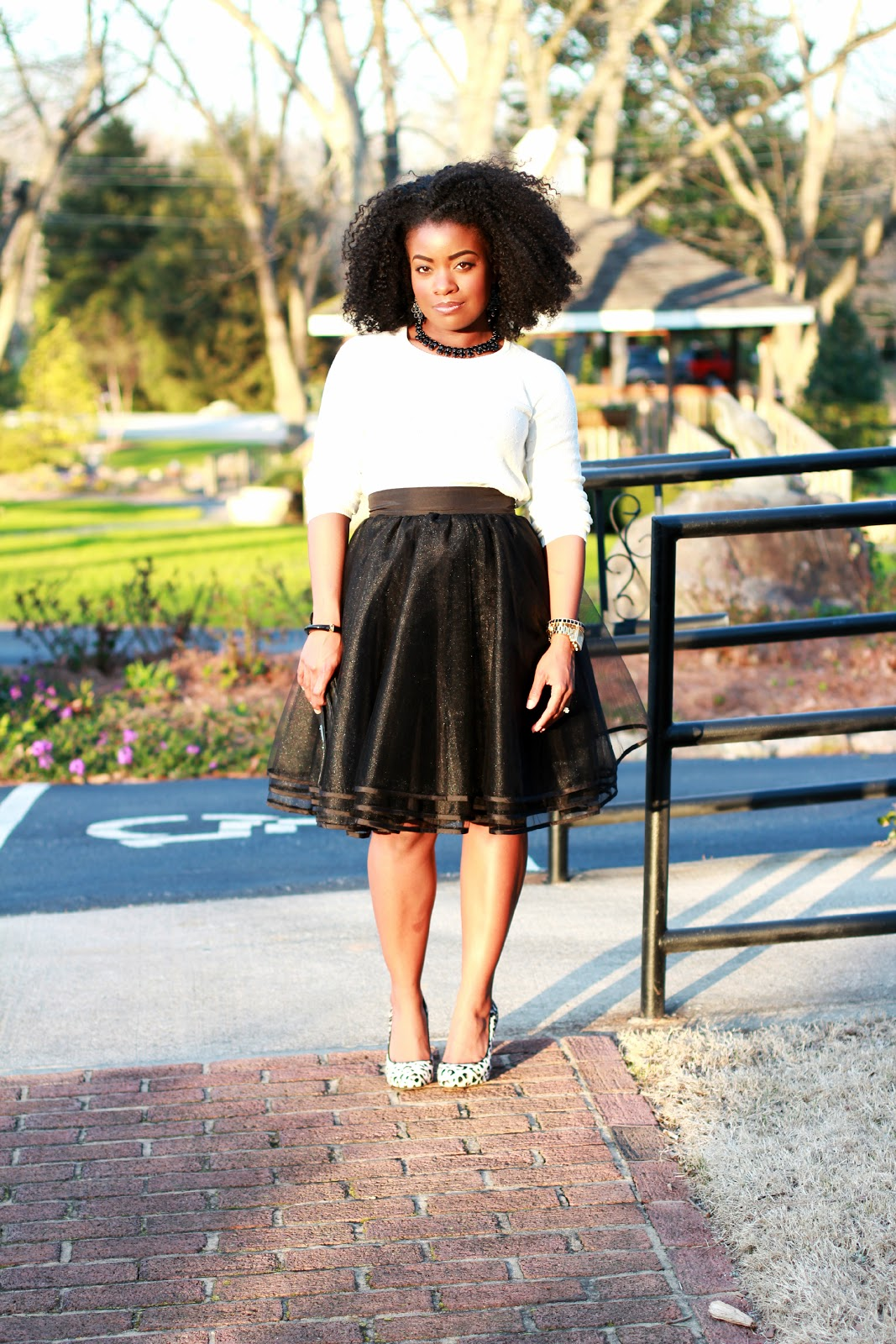 nice black tulle skirt outfit 11