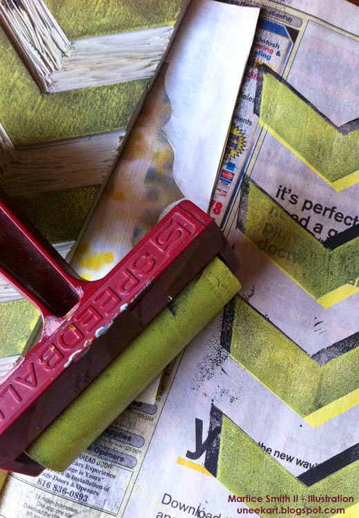 Martice Smith II's brayer: 4 inch hard rubber by Speedball