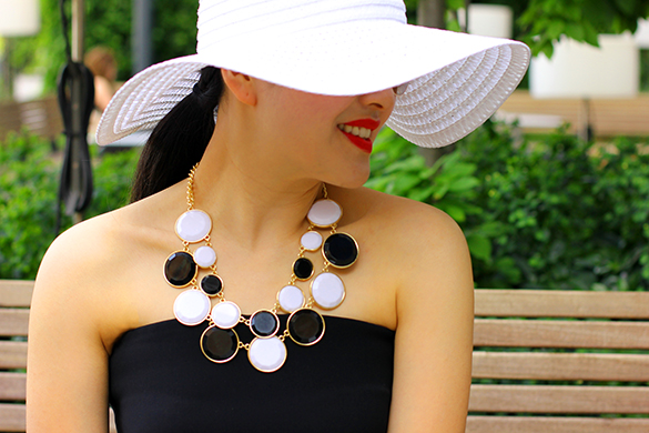 Black Romper with Sunhat