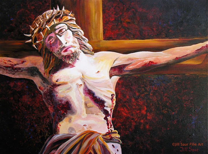 Jesus on cross painting