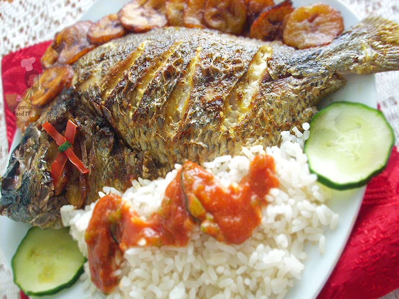 Nigerian grilled fish recipe for Rice recipes to go with fish