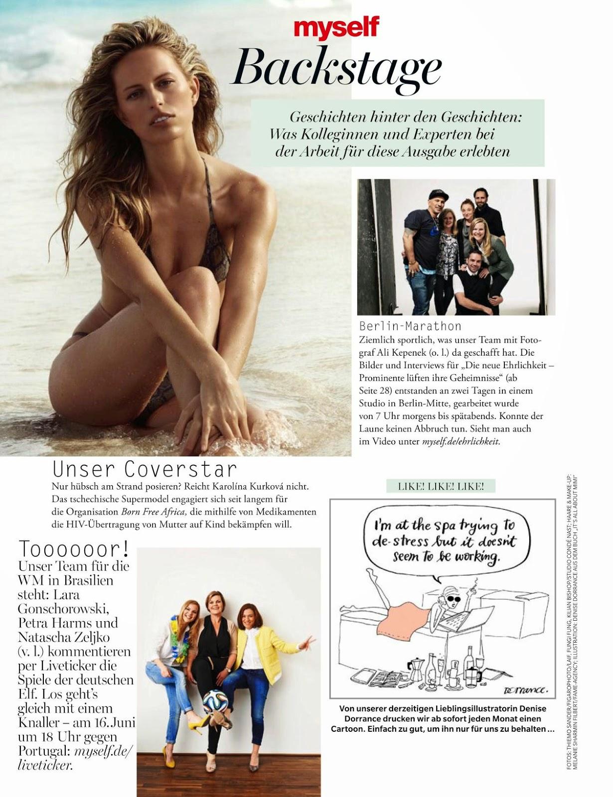 Karolina Kurkova For Myself Magazine, Germany, July 2014
