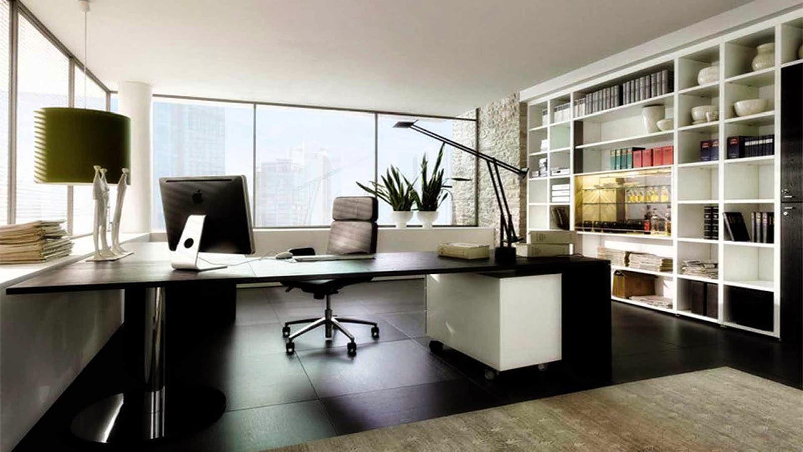 Decoração de escritório residencial bastante interessante: Nesse  #5D4F3B 1600x900