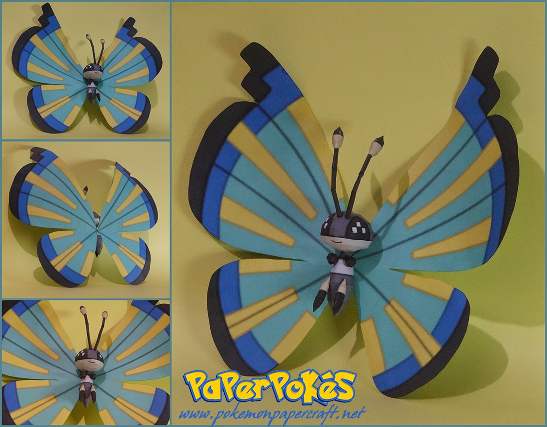 Pokemon Vivillon Papercraft