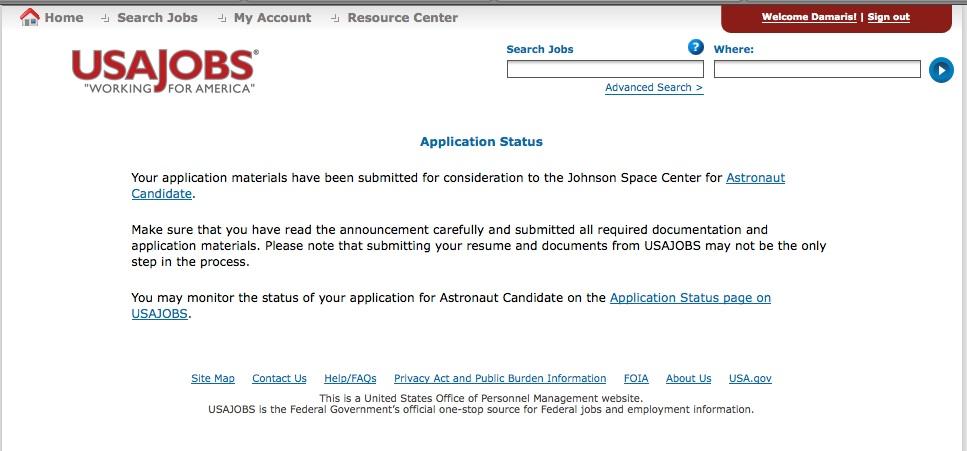 How I Am Becoming An Astronaut: Astronaut Application SENT! :)