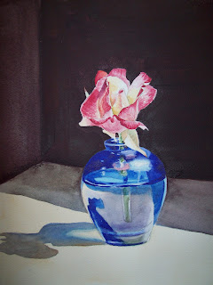 Glass Vase Painting