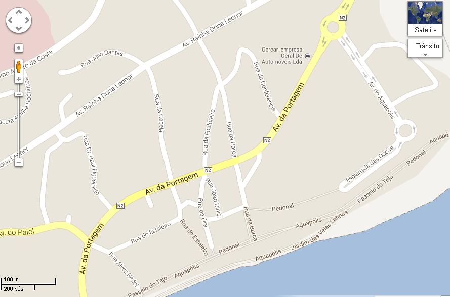 Mapa Aquapolis em Abrantes
