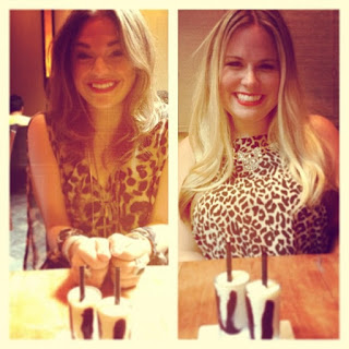 Beauty and Essex brunch, leopard and orange combination, meeting friends for brunch in NYC