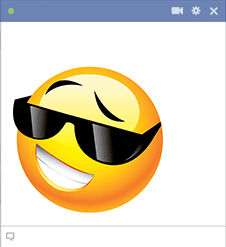 Emoticon with cool shades