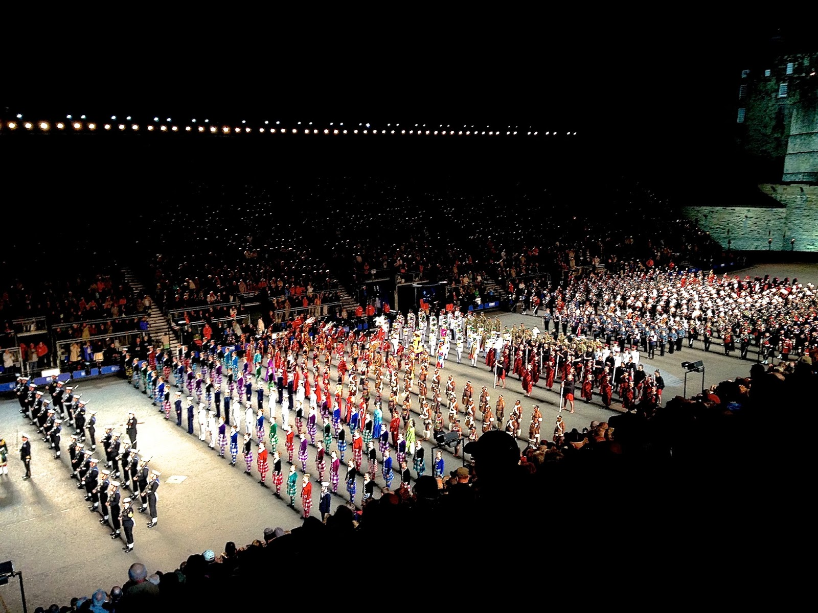 "Singing ""God Save the Queen"" at Royal Edinburgh Military Tattoo"